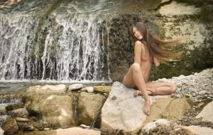 La bella y delgada Aleksandra Yun