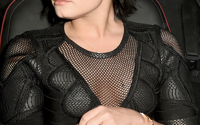 Demi Lovato spotted leaving the Ivy in Los Angeles, CA