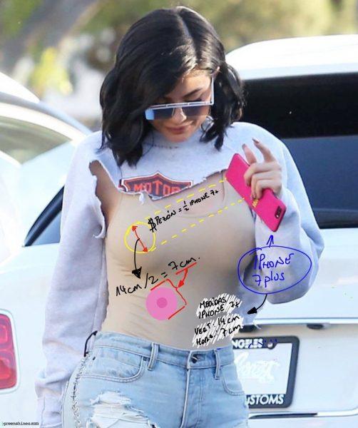 El tamaño de los pezones de Kylie Jenner