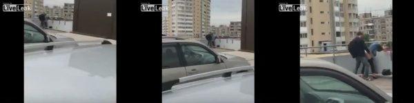 Follando en el estacionamiento