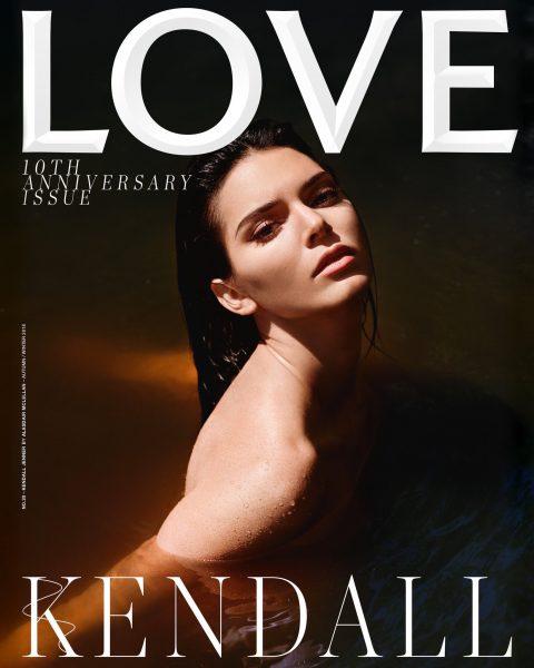 Kendall Jenner en Topless for Love Magazine
