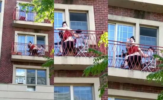 Follando en el balcon del hotel 02 - 3 7