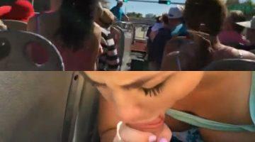 Una mamada en el bus turístico